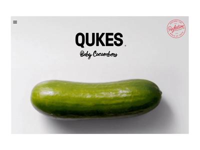 Qukes Website Menu Transition Concept menu transition interaction design web design