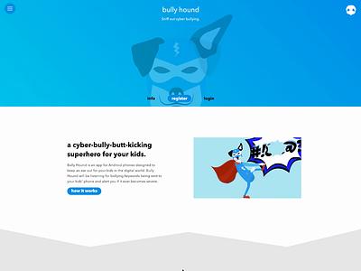 Bully Hound Rebound launch beta rebound ui animation web design app design