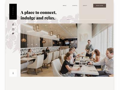 ABODE Bistro - Work In Progress design web parallax work in progress web design