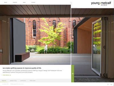 young+metcalf Live photography architects completed interaction design design web design rebound