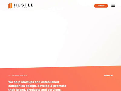 Hustle Digital - Website Live creative agency live completed agency digital photography design ui experience design interaction design web design