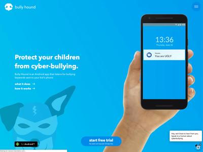 Bully Hound - V2 rebound interaction design app design ui design web design iteration
