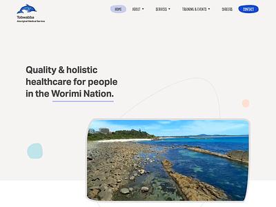 Website Live | Tobwabba Aboriginal Medical Services completed illustration interaction design development web design website