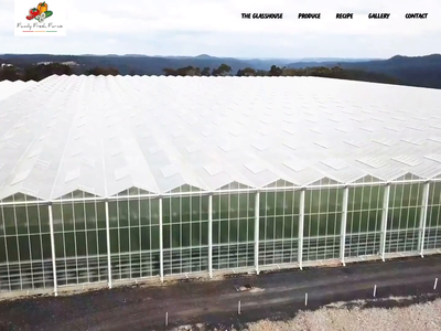 Family Fresh Farms - Website Live video web design transition completed design interaction design
