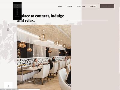 ABODE Bistro live launch interaction design website design website