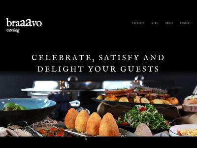 Bravo Catering Concept website concept interaction design website design