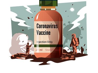 The Vaccine bottle covid19 coronavirus vaccine