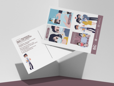 Fighting The Virus sanitizer hand washing hand character design mockup postcard covid-19