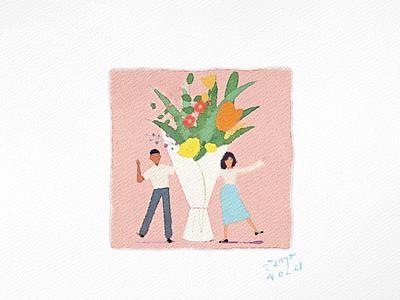 Couple love 2021 valentine angkritth illustration