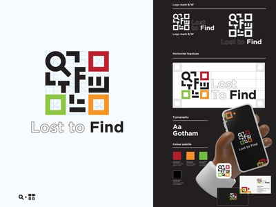 Lost to find Q mobile app application angkritth icon magnifier logodesign logo qrcode