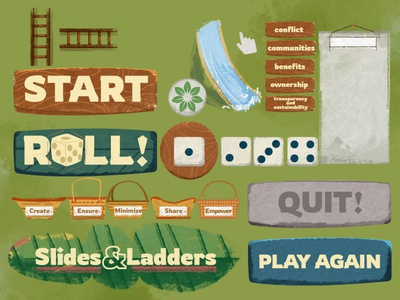 Slide & Ladders Game for RECOFTC boardgame board asia illustration draw photoshop paint ladder slide snake ux forest recoftc game ui slide  ladders
