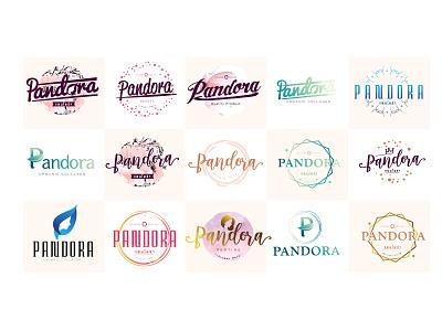Pandora angkritth healthy floral vitamin p illustration logo