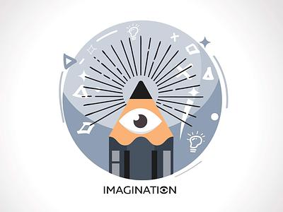 Sexy imagination illustration imagination symbol icon eye angkritth pencil logo illustrator imagine