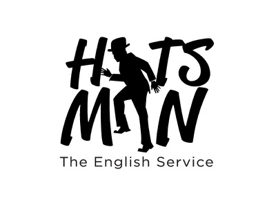 HATS MAN : The English service learning angkritth logo design logo silhouette school english man hat hats