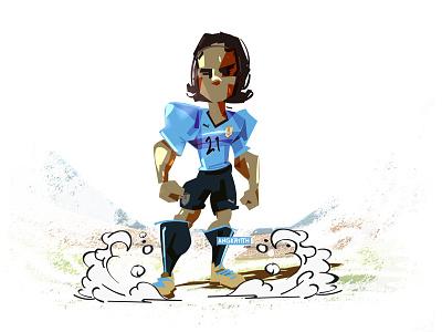 CAVANI r🇺🇾 angkritth illustration worldcup uruguay edison cavani