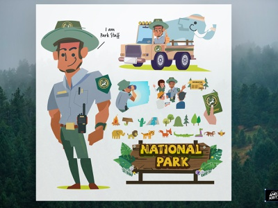 Park Staff character forest officer staff park