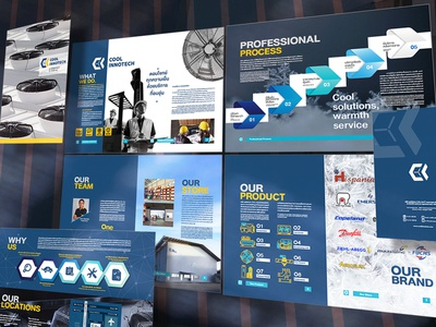 Company Profile : Cool Innotech layout indesign booklet brochure company profile