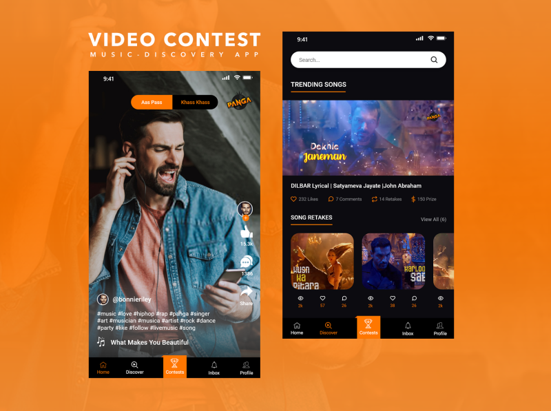 Video Contest / Music Discovery app