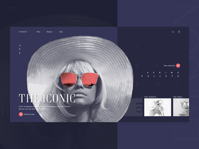 2. The Iconic website sunglasses illustration fashion wed design branding web ux ui design