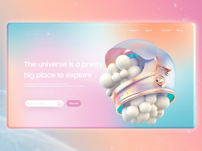 Universe pink wed design website web ux ui illustration design