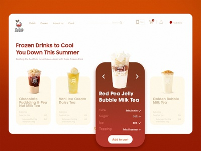 Drink beverages red coffee drink website illustration wed design ux ui design