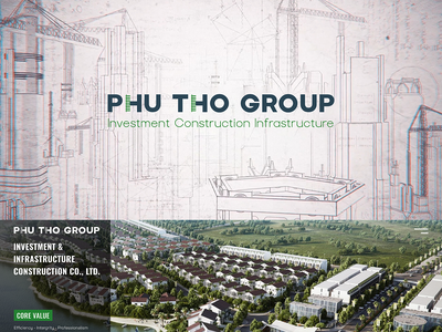 Phu Tho Group logo web design