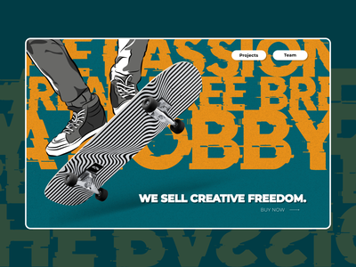 We sell creative freedom creative minimalism website