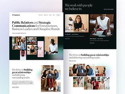 PR Agency Website Concept branding ui design ui figma web design design