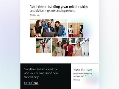 PR Agency Website Concept 2 branding gradient ui design ui web design design