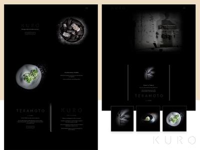 Kuro Restaurant Web Design