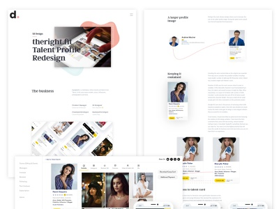 Talent Profile Case Study ux ui design web design case study
