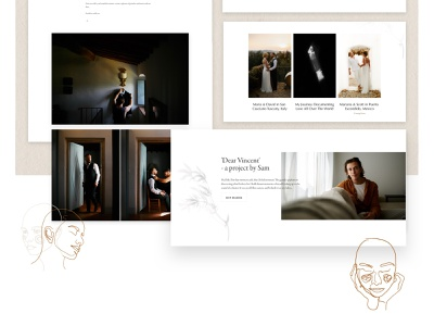 Dear Vincent Wedding Photography Website illustration design web design webflow