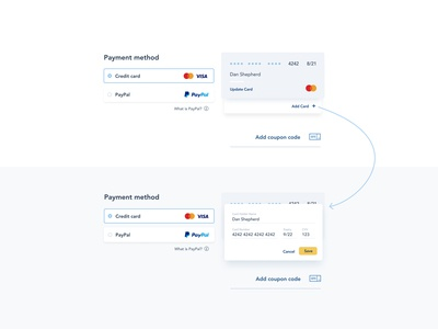 Daily UI 002 | Credit Card Checkout