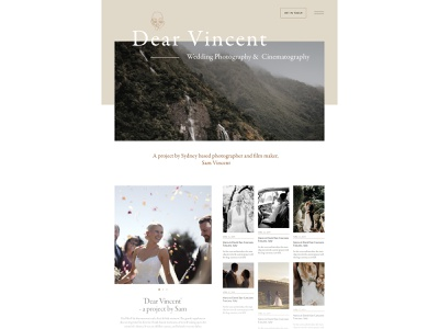 Wedding Photography Website WIP webflow figma design garamond web design photographer wedding