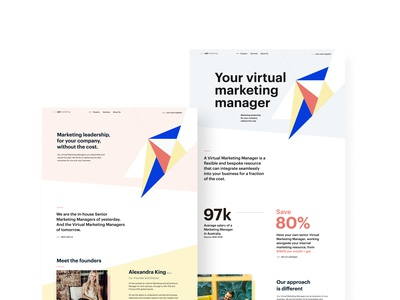 Marketing Agency Rebrand and Website Design WIP agency website design logo figma uidesign ui landing page agency web design