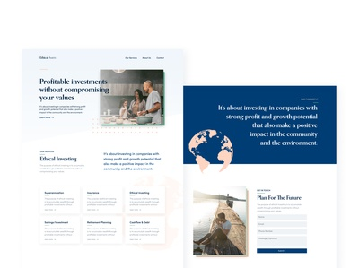 Landing Page Ethical Investment Firm