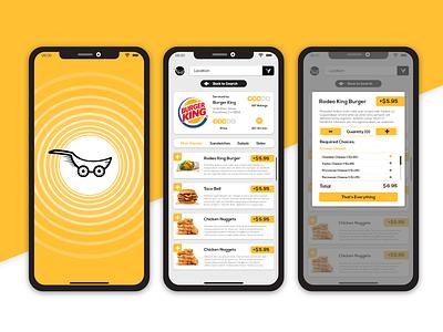 Food delivery aggregator app iphone fast screen checkout menu order delivery food ux ios logo ui mobile illustration app design
