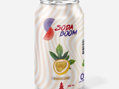 Mockup de Soda Boom soda mockup branding vector design logo illustration colors color