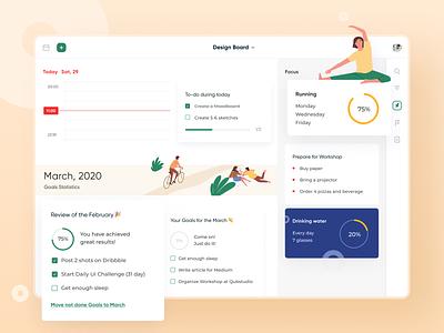 Goals & Tasks Tracker Web App task manager task tracking tracking app goals webdesign ui typography minimal simple statistics dashboad app web design