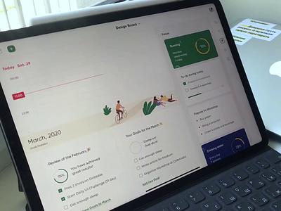 Real-time Tasks Tracker Web App prototype animation principle prototype interaction interaction design motion animated ui goals dashboad web tracking app task manager task minimal design app