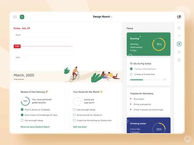 Tasks Tracker Web Animation statistics animation web design audio music visual visual design ui animated goals dashboad tracking app task manager task minimal design app