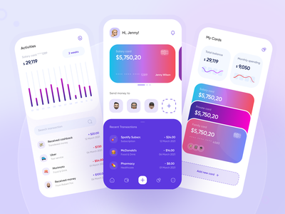 Finance: Banking Mobile App financial app bank mobile ui financial fintech mobile app design debit mobile app wallet finance ui banking app banking