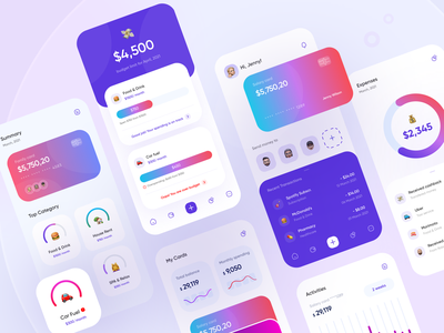 Finance app: mobile banking screens app design wallet banking bank uxui mobile design finance app fintech finance mobile banking mobile banking app mobile app