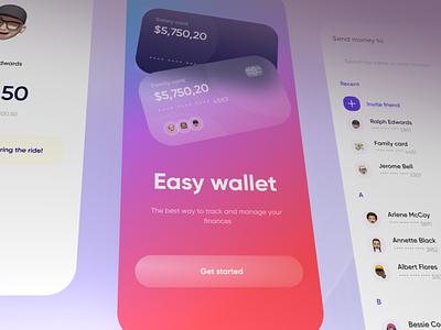 Fintech: banking mobile app 💸 bank design ui credit card card wallet application send money onboarding fintech finance app finance banking app banking mobile app design app design app
