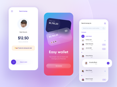 Fintech: banking mobile app 💸 bank design ui credit card card wallet application send money onboarding fintech finance app finance banking app banking mobile app design app design app
