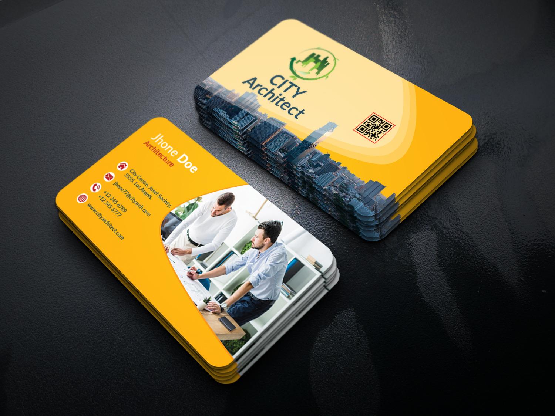 Architect Business Card official shop design branding logo corporate bold visitingcard business card corporate business card business card