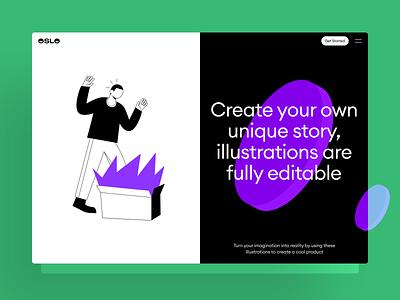 OSLO Illustrations story flat illustrator image icons icon shape craftwork illustrations