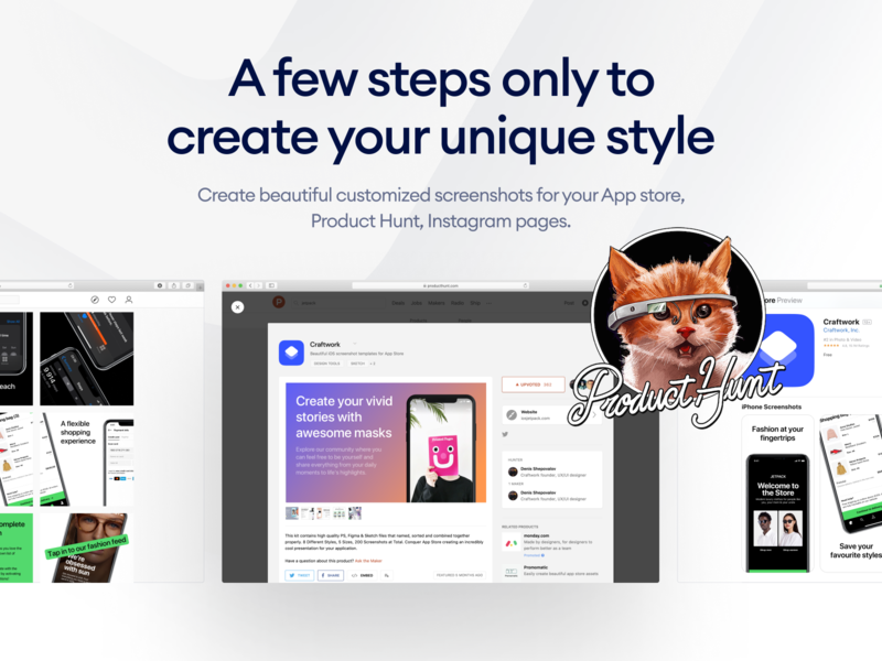Layouts.today on Product Hunt uidesign presentation mockup mockups screen ux producthunt screenshot template