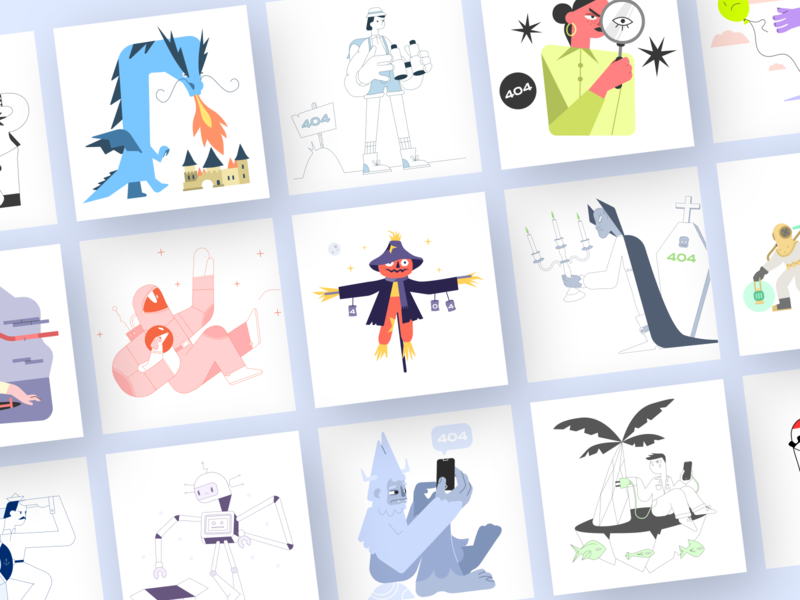Open-source catchy illustrations for error pages web webdesign ux ui uiux illustrations/ui figma sketch vector illustrations illustration freebie wrong error 404 error free 404