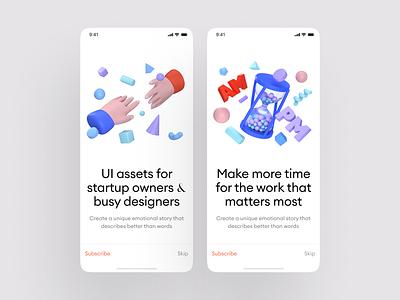 Boom 3D Illustrations for your UI design applications uiux ui design site app application website craftwork illustraion 3d